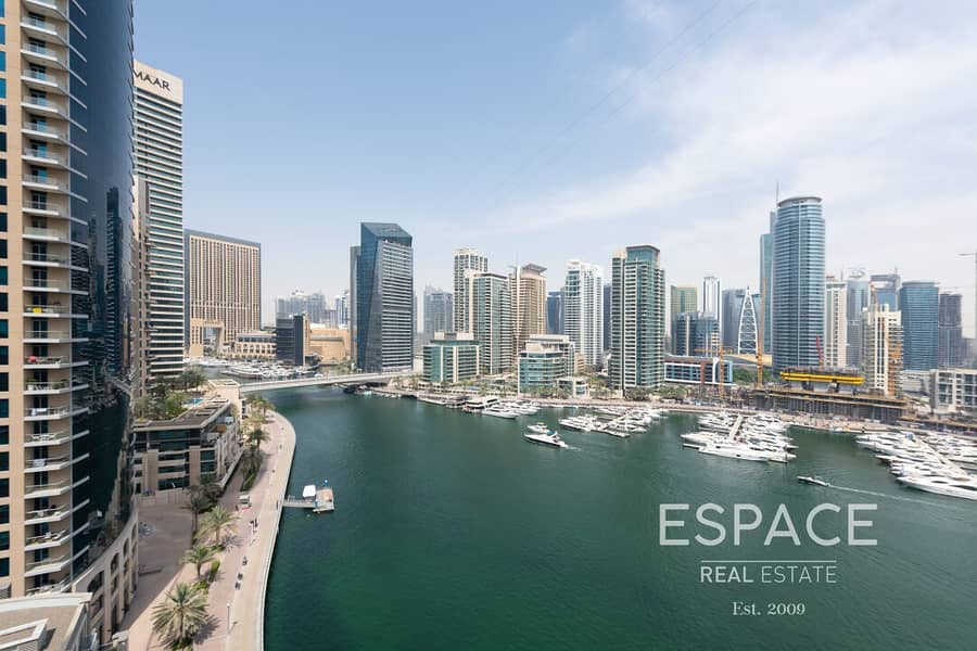 High Floor | Large 2 BR | Full Marina View