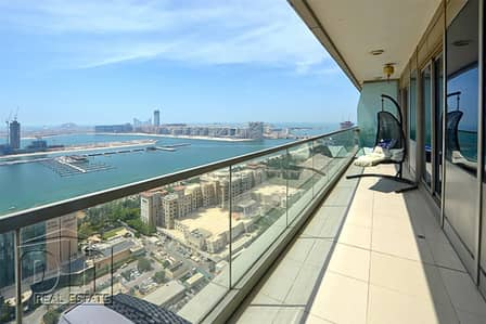 2 Bedroom Apartment for Rent in Dubai Marina, Dubai - Amazing Sea View | 2 Bed + Maids | Chiller Free