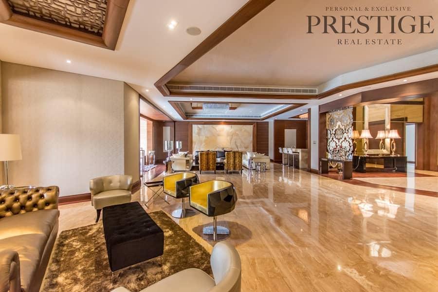 17 6BR|Emirates Hills villa with Cinema | Full lake view