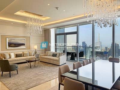 4 Bedroom Penthouse for Rent in Downtown Dubai, Dubai - 4BR+M Penthouse SkyCollection / Burj Khalifa views