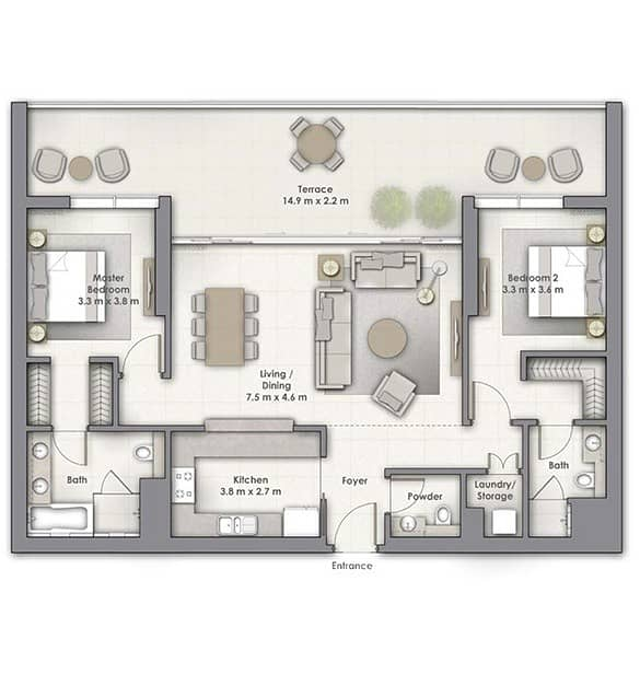 10 2 Bed | Large Terrace | Boulevard Point