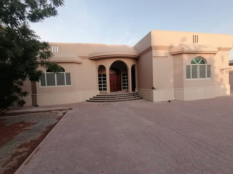 4 BHK Villa with majlis, living dining, 5 baths, maid room, huge garden area, parking and nice finishing