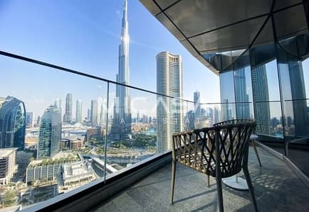 3 Bedroom Hotel Apartment for Sale in Downtown Dubai, Dubai - High Floor ||  Serviced || Burj & Fountain view || View now