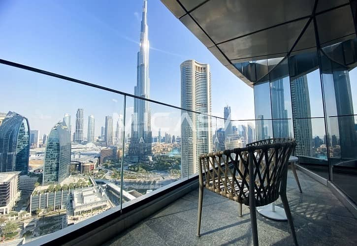1 High Floor ||  Serviced || Burj & Fountain view || View now