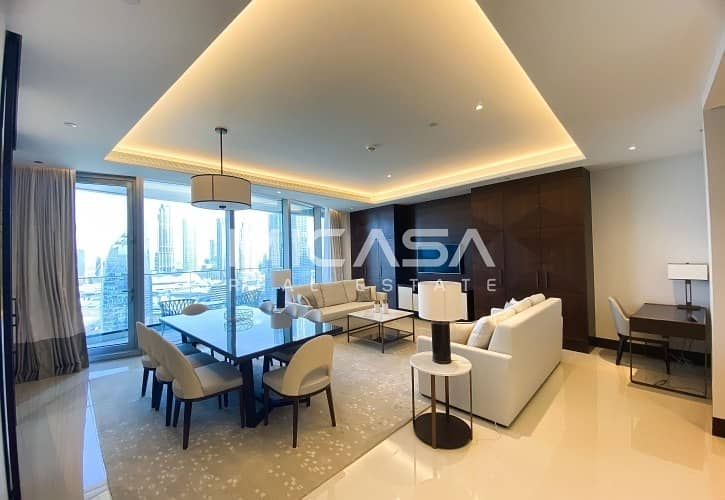 2 High Floor ||  Serviced || Burj & Fountain view || View now