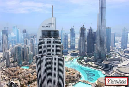 4 Bedroom Apartment for Rent in Downtown Dubai, Dubai - BURJ & FOUNTAIN VIEW SKY COLLECTION BRAND NEW