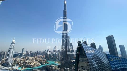 شقة 2 غرفة نوم للايجار في وسط مدينة دبي، دبي - Fully Furnished 2 BR with Full Burj Khalifa View