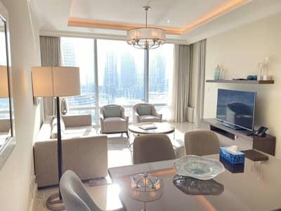 فلیٹ 2 غرفة نوم للايجار في وسط مدينة دبي، دبي - Vacant   2Bed+Study   Full Burj view   Middle unit