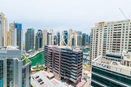 شقة 1 غرفة نوم للايجار في دبي مارينا، دبي - Partial Marina View on High Floor | Vacant
