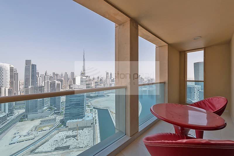 2 Canal/Burj Views   Two bedrooms + Maid   Churchill