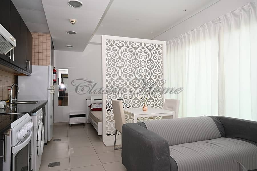 Fully Furnished Studio Apartment/ Royal Oceanic 1 with Beautiful Marina View