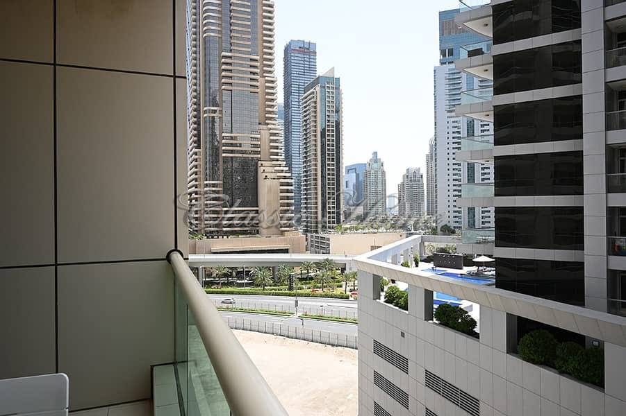 10 Fully Furnished Studio Apartment/ Royal Oceanic 1 with Beautiful Marina View