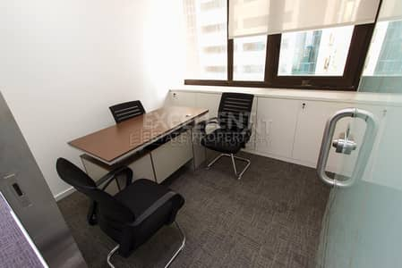 Office for Rent in Corniche Area, Abu Dhabi - Affordable Semi Furnished Office Space / Short Term / For Tawtheeq Purpose