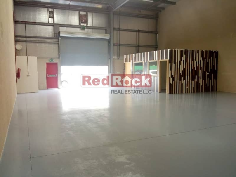 13 60 days Free 5000 sqft Warehouse with Epoxy Flooring & offices in Jebel Ali