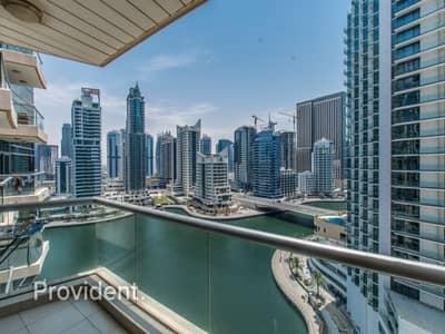 فلیٹ 2 غرفة نوم للايجار في دبي مارينا، دبي - Exclusive and Managed with Full Marina View