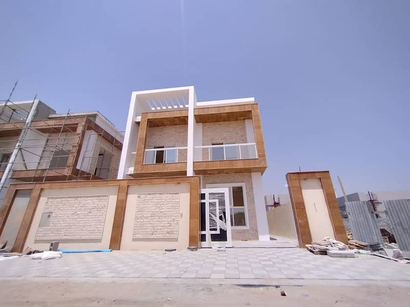 Villa for sale in Ajman, Jasmine, faced a freehold stone