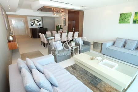 3 Bedroom Apartment for Rent in Dubai Marina, Dubai - Upgraded | Full Sea View | Fully Furnished| Must See