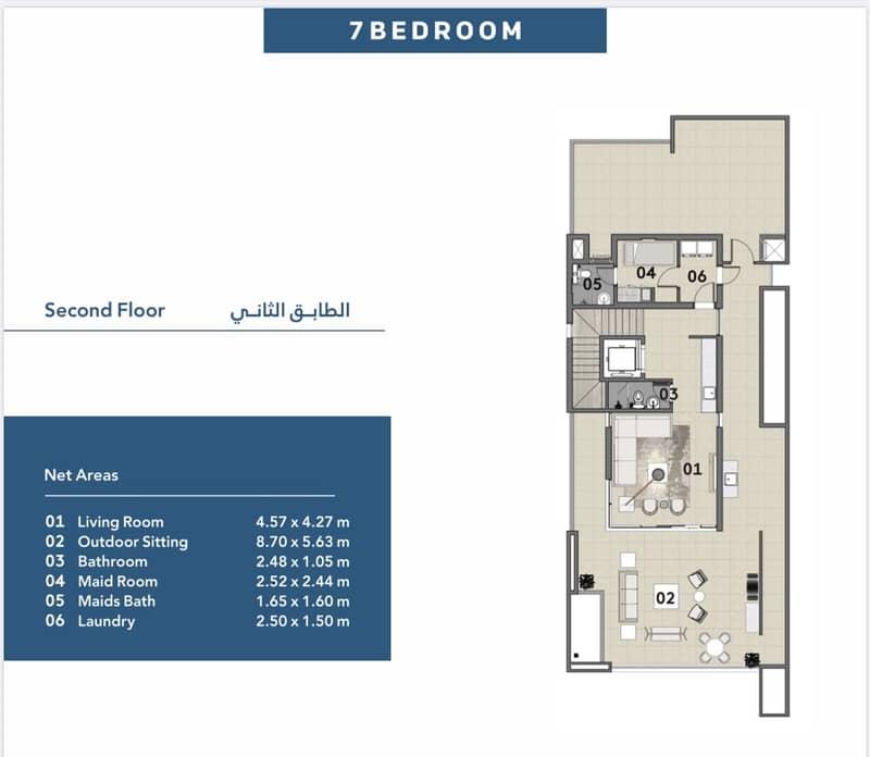 43 Amazing 7BR Villa in Sharjah Waterfront City Prime Location Beach Views