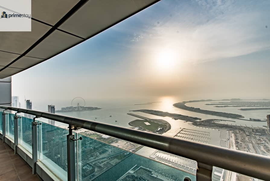 2 Summer Offer: Breath-taking Views 3BR Duplex in Dubai Marina