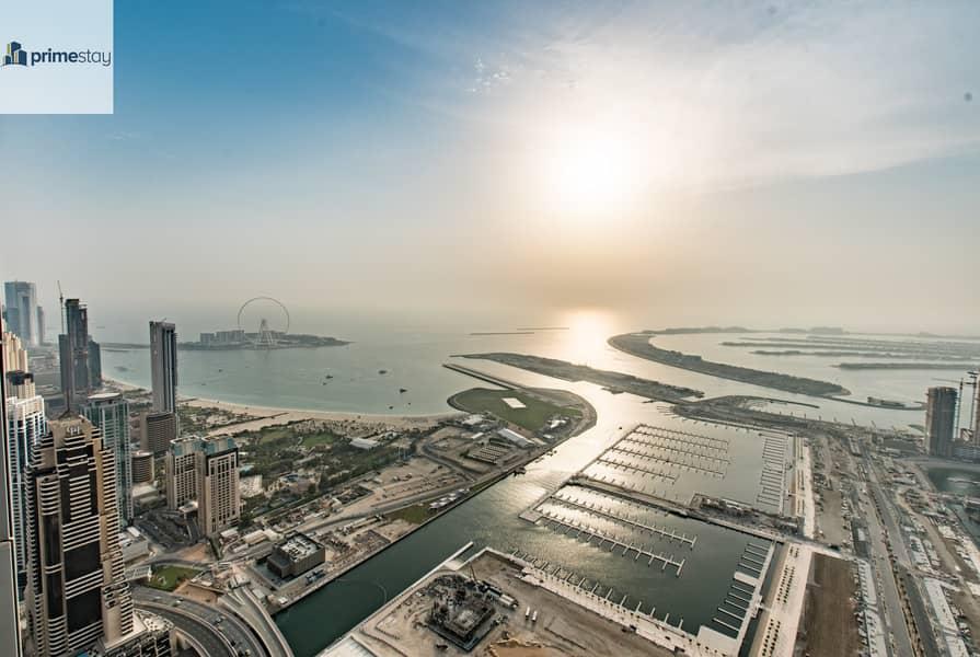 17 Summer Offer: Breath-taking Views 3BR Duplex in Dubai Marina