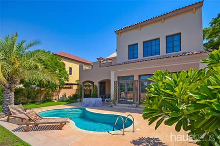 5 Bedroom Villa for Rent in Jumeirah Golf Estate, Dubai - Fire Golf Course views | Pinehurst style