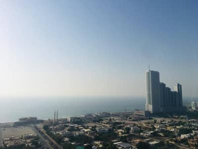 2 Bedroom Flat for Rent in Al Sawan, Ajman - 2 bhk full sea view closed kitchen with free parking for rent in ajman one tower