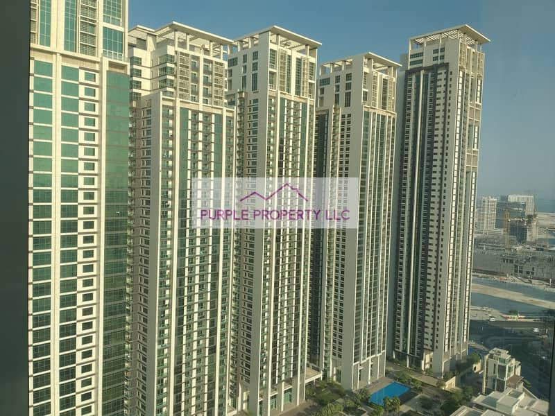 Spacious 2 bedroom apartment available for rent in Marina square just 75k