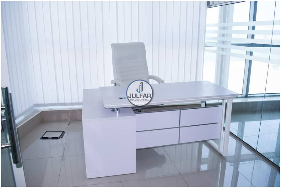 2 Furnished Office FOR RENT in Julphar Tower R.A.K*