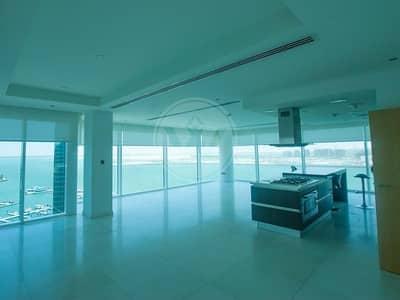 شقة 4 غرف نوم للايجار في شاطئ الراحة، أبوظبي - Sea sea sea views!  Full floor waterfront luxury!