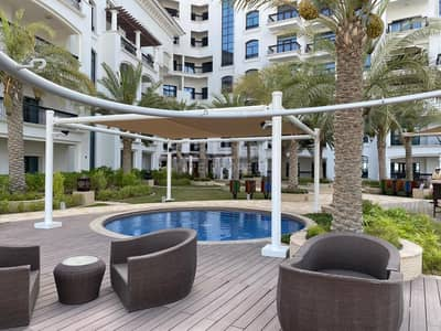 1 Bedroom Flat for Rent in Yas Island, Abu Dhabi - Classy 1BH Apt| Balcony with Swimming Pool View