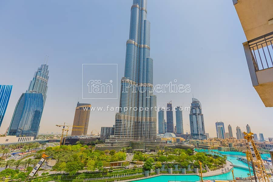 40 2 Bed with Burj Khalifa views For Rent