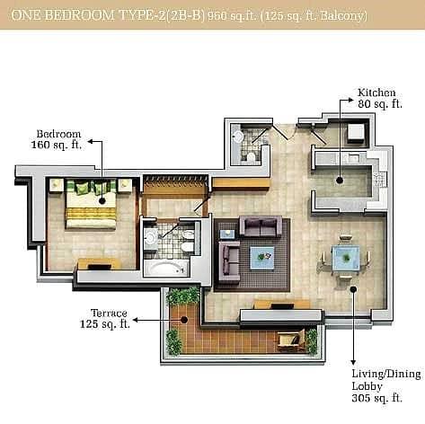 10 1 Bedroom | Best Layout | High In Demand