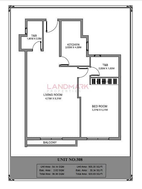 2 Brand New One Bedroom Apartment