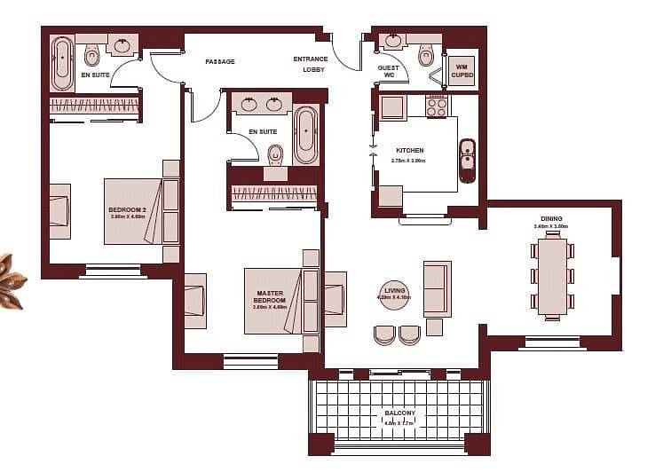 10 Two Bed   Vacant on Transfer   Dining Area