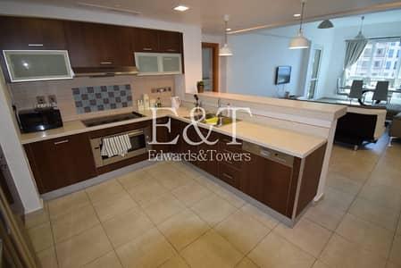 فلیٹ 2 غرفة نوم للايجار في نخلة جميرا، دبي - High Floor | Unfurnished |Type D |Sunset Views |PJ