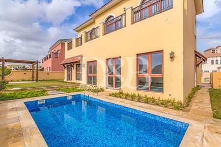 فیلا 4 غرف نوم للايجار في عقارات جميرا للجولف، دبي - Glorious Lake Views|Private Pool|Miele Applinces