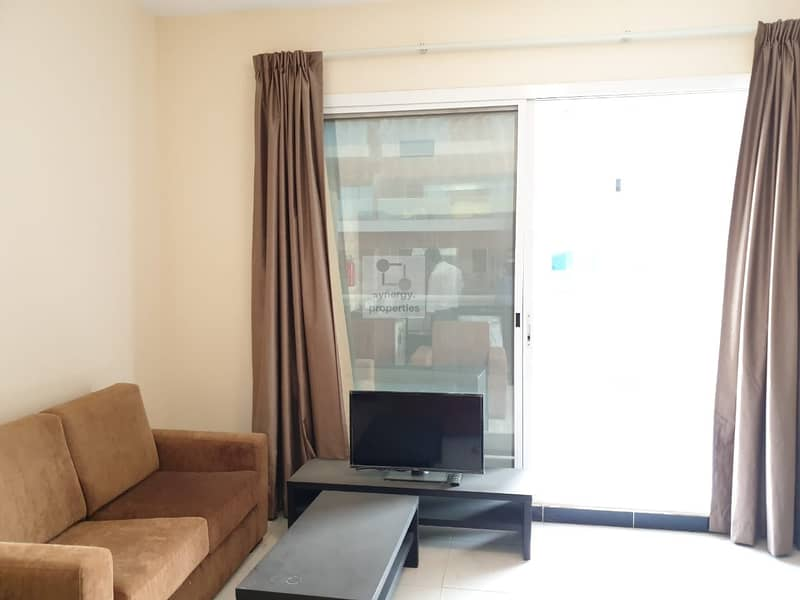 Nice terrace| fully furnished 1br|  road view