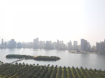 Panoramic View Luxury 3BR Free AC with Gym Pool Parking at Buhairah