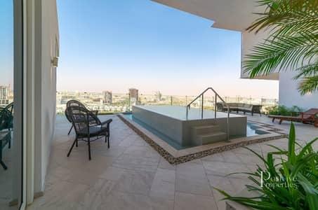 شقة 2 غرفة نوم للايجار في قرية جميرا الدائرية، دبي - Private Pool | High Floor | Huge Terrace