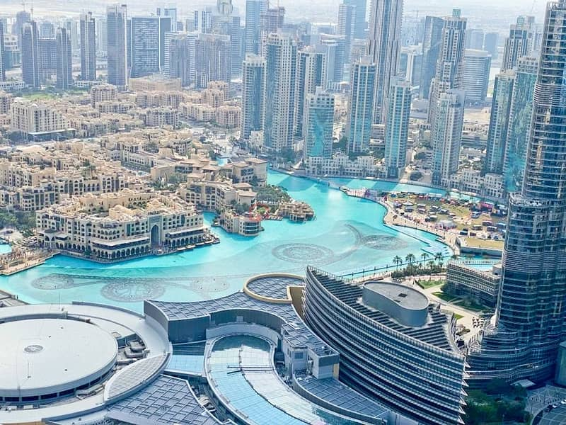 1 Furnished 4 Beds + Maids  Burj and  Fountain Views
