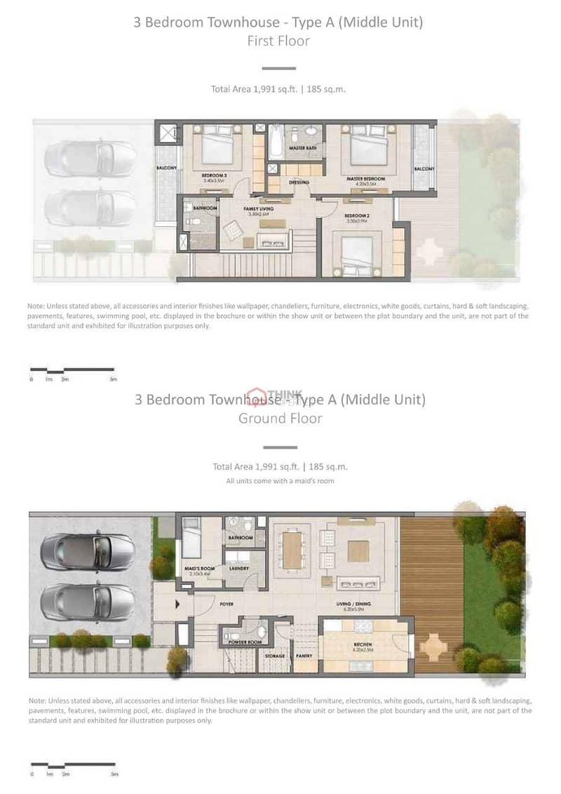 2 3BR+M Nr. to Pool and Park With Handover Letter