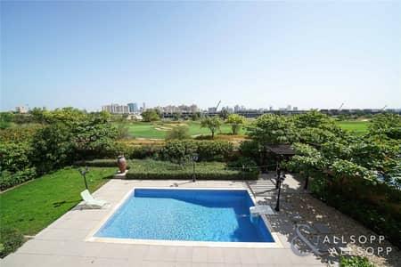 4 Bedroom Villa for Rent in Jumeirah Golf Estate, Dubai - Upgraded Aberdeen Villa | Golf Course View