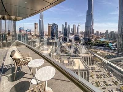 2 Bedroom Flat for Rent in Downtown Dubai, Dubai - All Bills Included| Burj Khalifa Facing | Serviced
