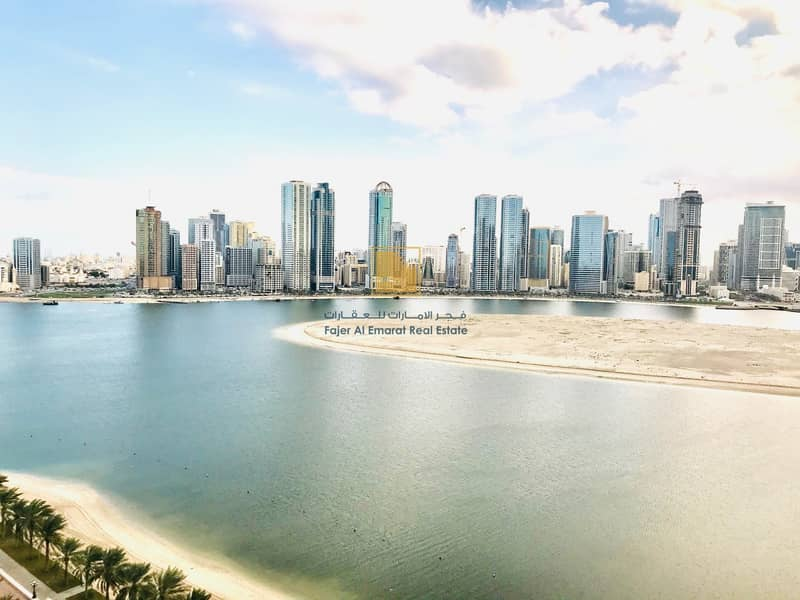 2 For Sale 3 BR + Maid Room With Sea View in Sharjah
