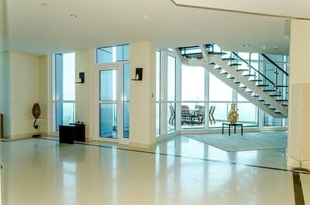 4 Bedroom Penthouse for Rent in Dubai Marina, Dubai - 4BR Duplex Penthouse with Full Sea and Marina View