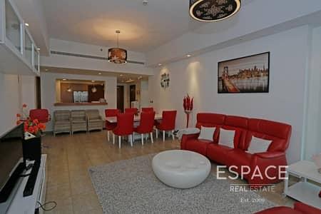 شقة 2 غرفة نوم للايجار في نخلة جميرا، دبي - Fully Furnished - Sunset View - Exemplary