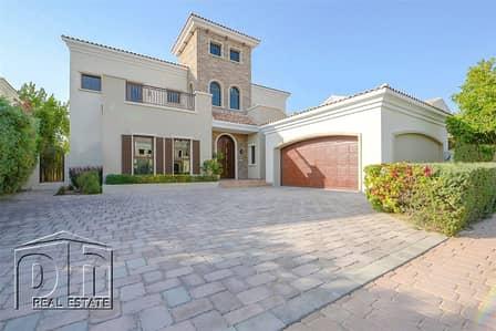 فیلا 5 غرف نوم للايجار في عقارات جميرا للجولف، دبي - Large and Immaculate Valencia Villa | Stunning Golf Course Views | Clubhouse Included