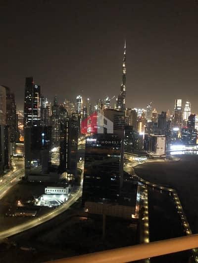 شقة 2 غرفة نوم للايجار في الخليج التجاري، دبي - Fully canal Burj Khalifa View  2BHK+Maid
