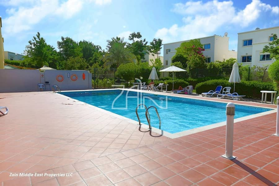 12 Corner Single Row 4 BR Villa with Large Garden in Al Reef