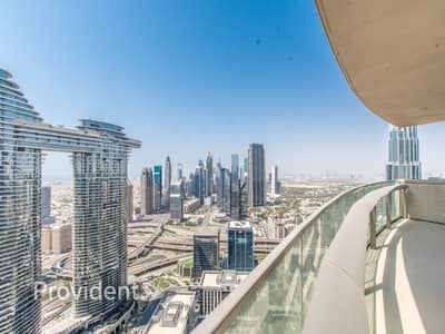 2 Bedroom Flat for Sale in Downtown Dubai, Dubai - High Floor | Stunning Skyline and Sea View